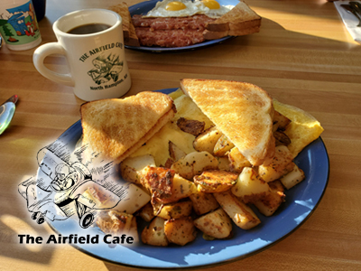 Airfield Cafe badge ad