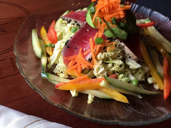 Blue Latitude's Sesame Ginger Salad w/ Ahi Tuna